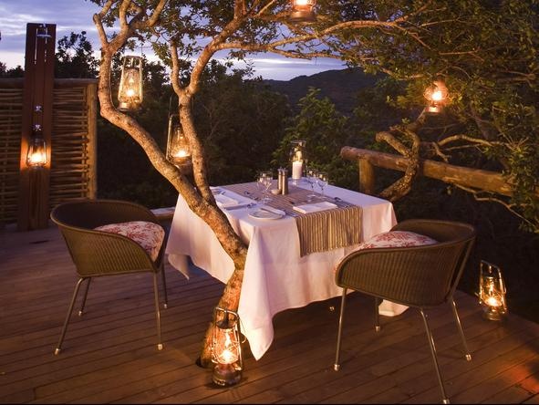 Phinda Mountain Lodge - private dining