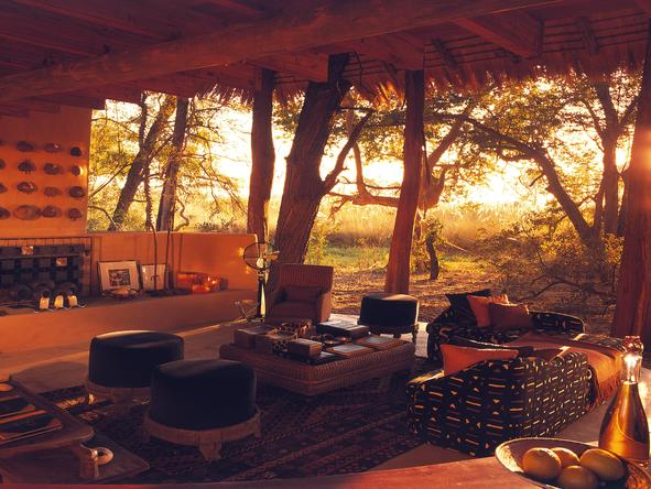 Sandibe Okavango Safari Lodge - outdoor sitting area