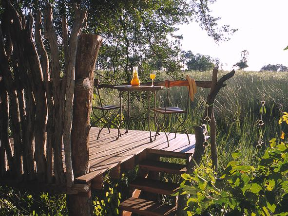 Sandibe Okavango Safari Lodge - private deck