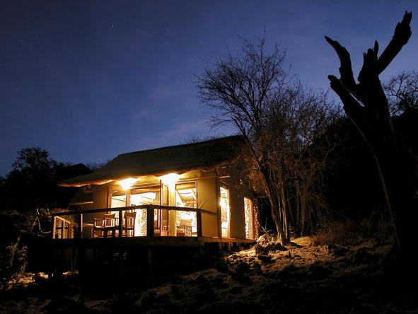 Ongava Lodge - exterior night