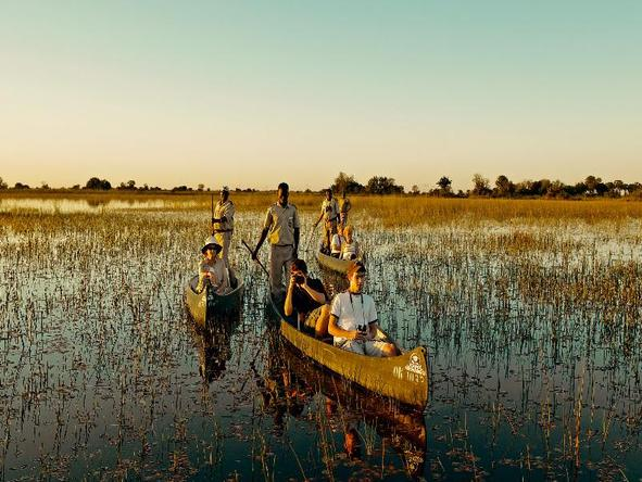 Camp Okavango - mokoro excursion