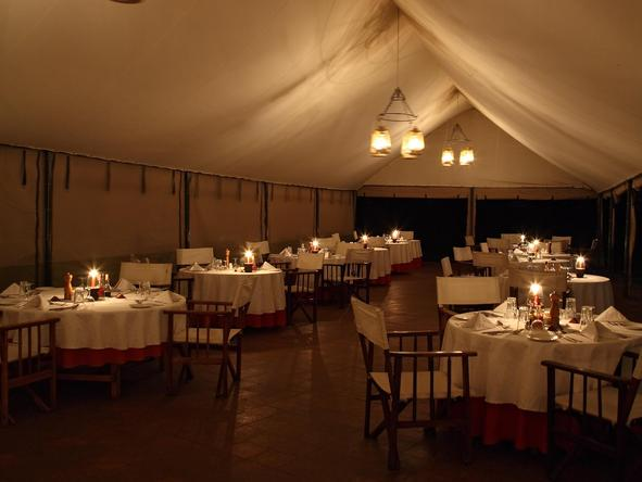 Governors' Camp - dining tent 2