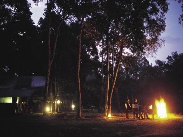Governors' Private Camp - campfire