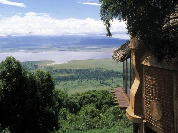Ngorongoro Crater Lodge - viewing deck