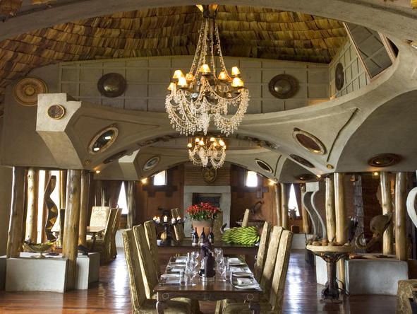 Ngorongoro Crater Lodge - dining room interior