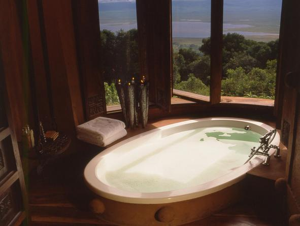 Ngorongoro Crater Lodge - bathroom
