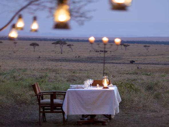 Kichwa Tembo Bateleur Camp - outdoor dining