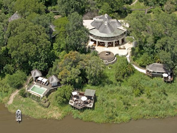 Sussi and Chuma Lodge - aerial view