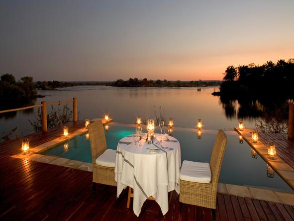 Sussi and Chuma Lodge - outdoor dining