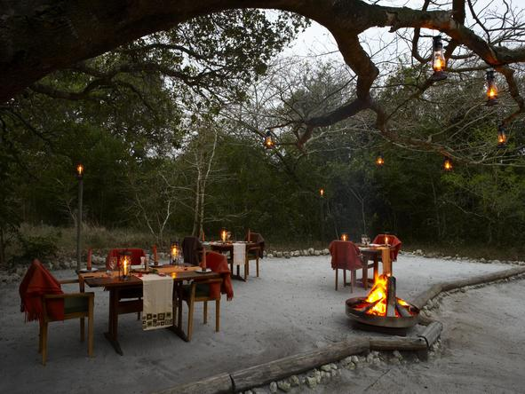Kosi Forest Lodge - outdoor dining
