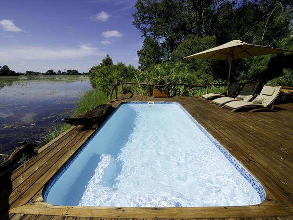 Jacana Camp - pool deck