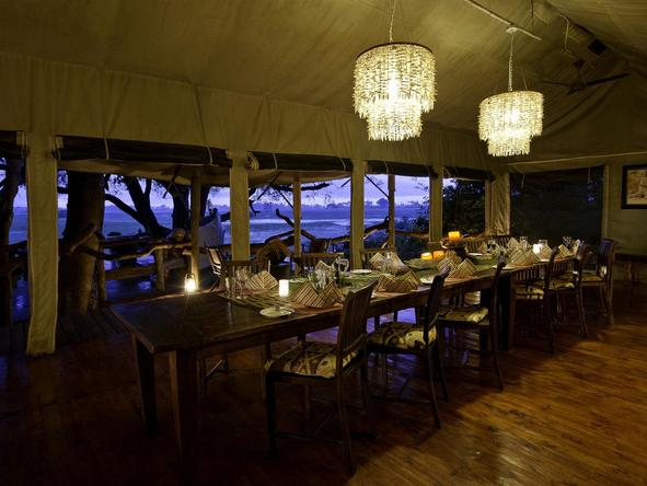 Tubu Tree Camp - dining room