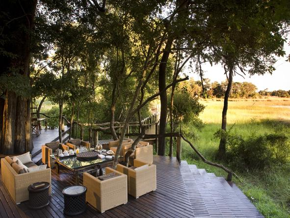 Nxabega Okavango Safari Camp - deck