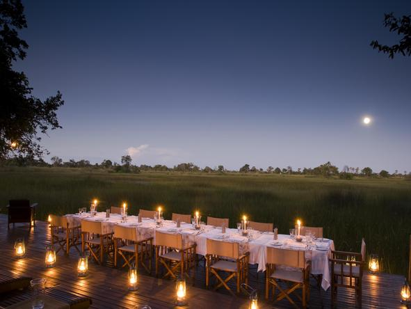 Nxabega Okavango Safari Camp - bush dining