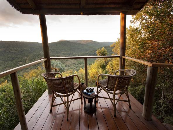 Isibindi Zulu Lodge - private deck