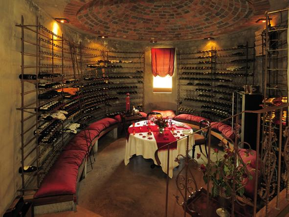 Tintswalo Safari Lodge - wine cellar dinner