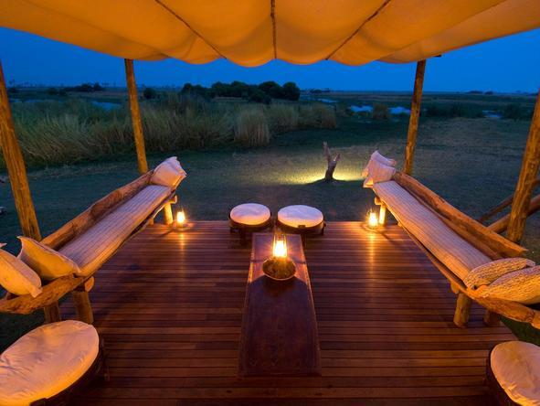 Selinda Camp - outdoor sitting area