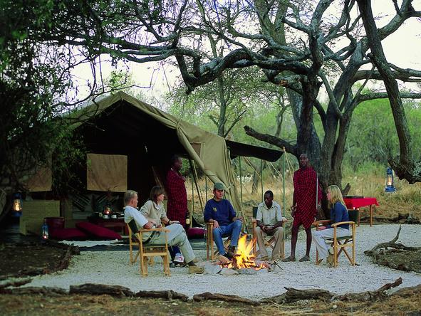 Amboseli Porini Camp - campfire