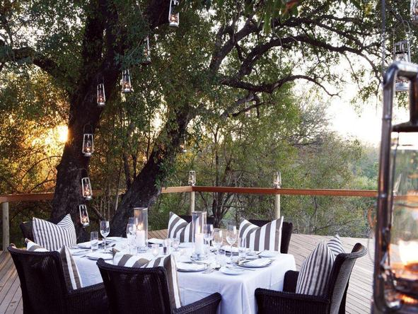 Londolozi Pioneer Camp - outdoor dining
