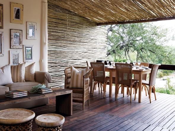 Londolozi Founders Camp - outdoor dining