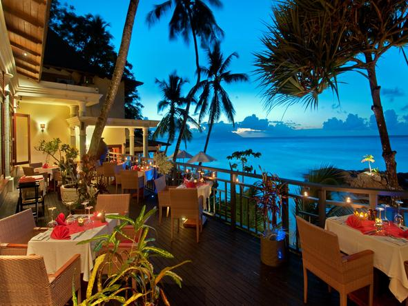 Hilton Seychelles Northolme Resort - dining deck