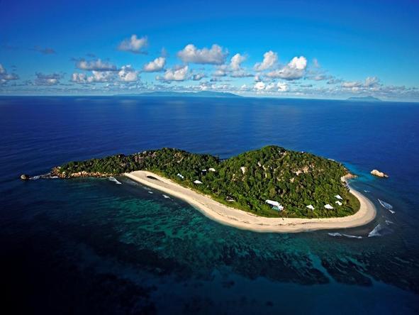 Cousine Island Hideaway - aerial view