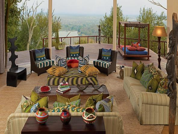 Singita Pamushana Lodge - lounge area