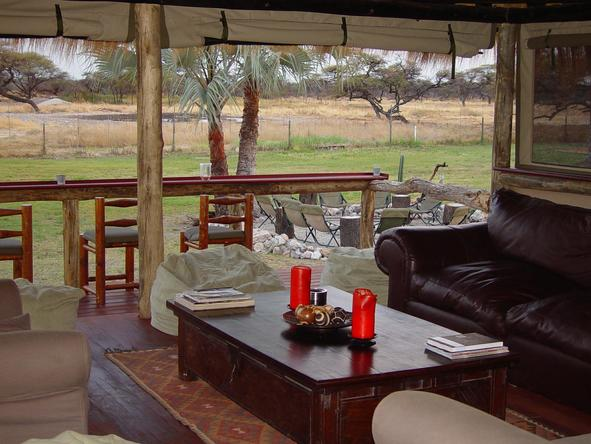 Onguma Bush Camp - main lounge