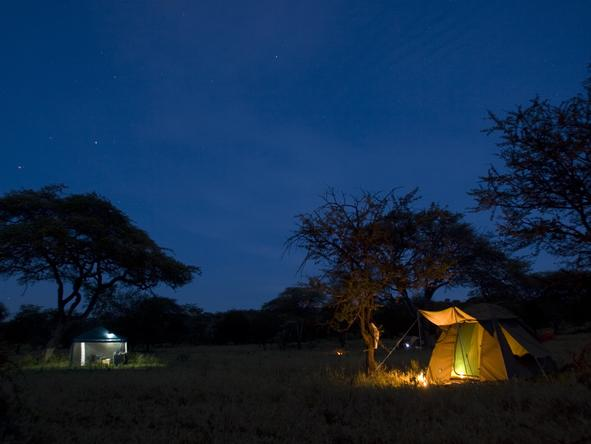Lemala Mara - tent at night
