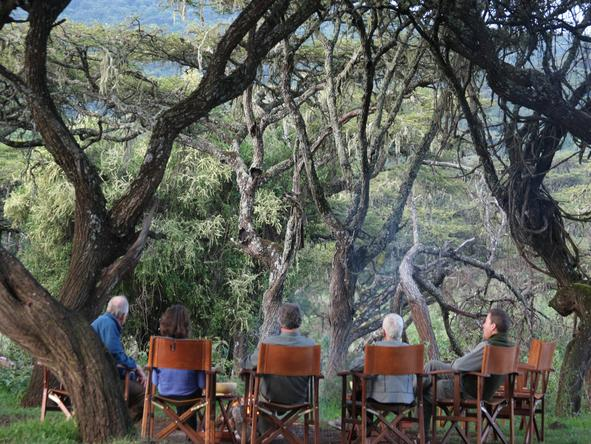 Lemala Ngorongoro - sitting in forest