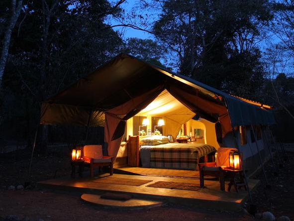 Kitich Camp - tent at night