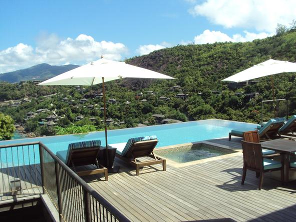 Four Seasons Resort Seychelles -  relax next to the pool