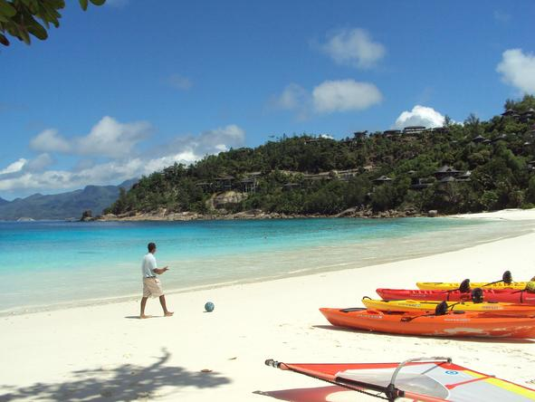 Four Seasons Resort Seychelles - enjoy a kayak trip out in the bay