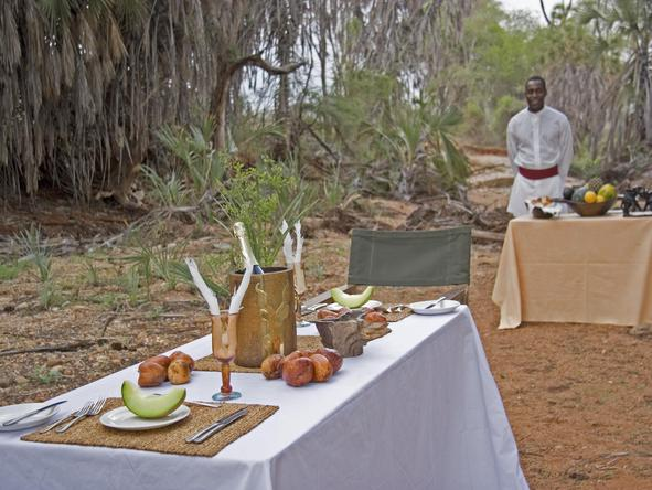 Galdessa Main Camp - bush breakfast