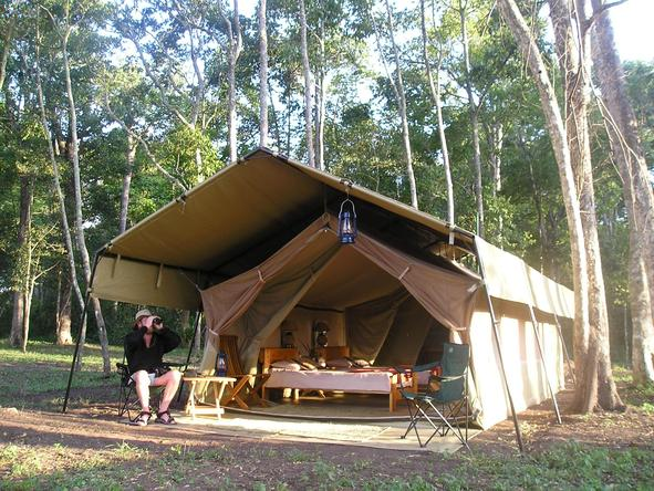Ishasha Wilderness Camp - tent exterior