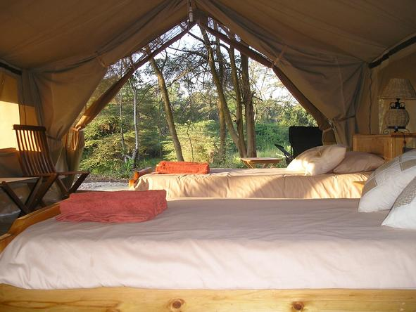 Ishasha Wilderness Camp - bedroom