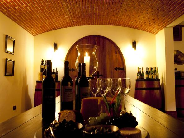 The Manor at Ngorongoro - wine cellar