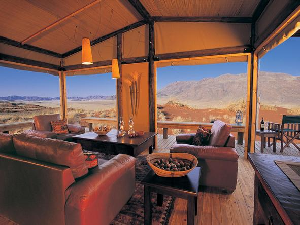 Wolwedans Dunes Lodge - relaxed lounge setting