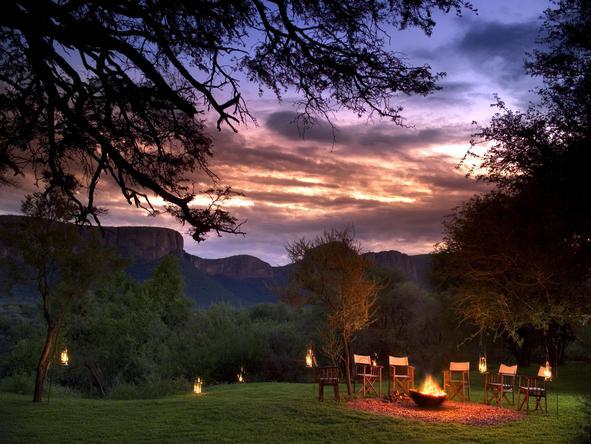 Marataba - campfire + sunset