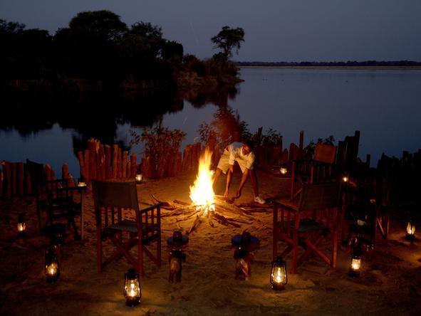 Chongwe River Camp - campfire