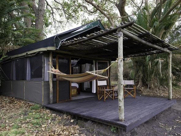 Busanga Bush Camp - tent exterior