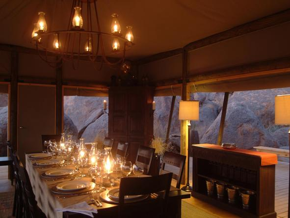 Wolwedans Dune Camp - Dining