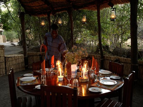 Chikoko Tree Camp - dine by candlelight