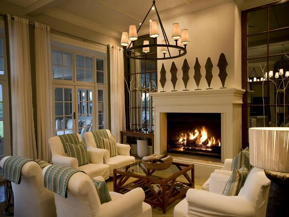 The Manor at Samara - lounge + fireplace