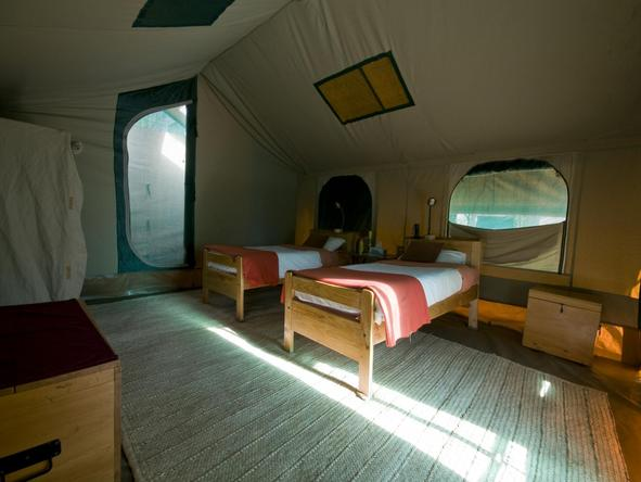 Serengeti Tented Camp - interior of your tent