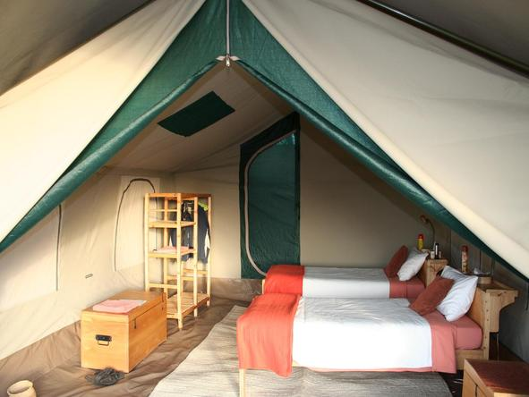 Serengeti Tented Camp - twin bedded room