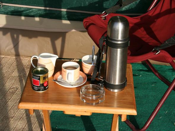 Serengeti Tented Camp - morning coffee