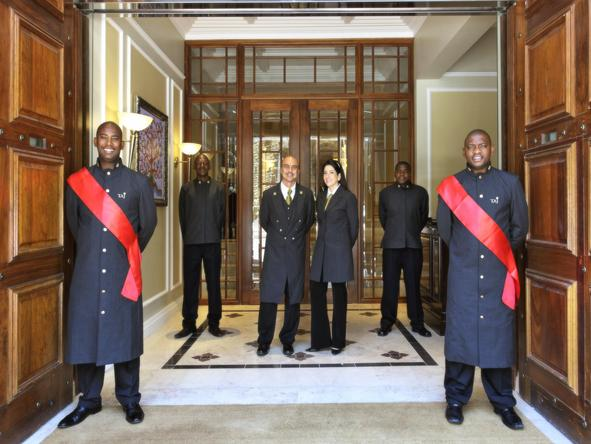 Taj Cape Town - staff at entrance
