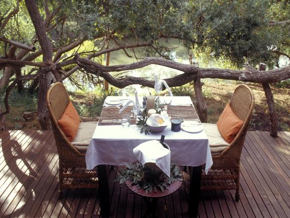 Makanyane Safari Lodge - private dining