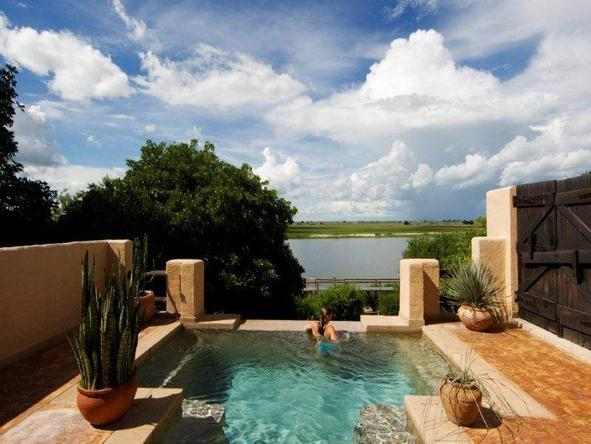 Chobe Game Lodge - swimming pool and view